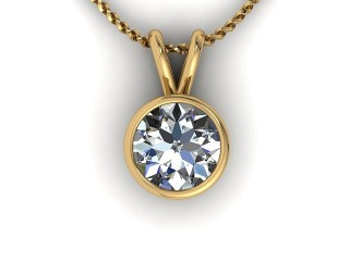 Certified Round Diamond Pendant - 9