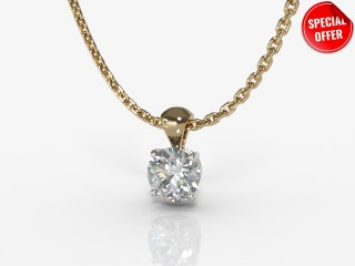 Certified Round Diamond Pendant-01-28913