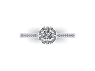 9ct. White Gold Halo Cluster Diamond Engagement Ring