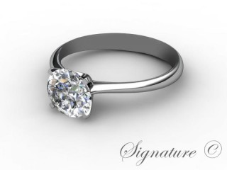Certificated Round Diamond Solitaire Engagement Ring in Palladium-01-6600-0001