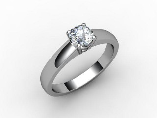 Certificated Round Diamond Solitaire Engagement Ring in Palladium-01-6600-1923