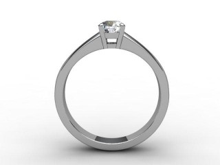Certificated Round Diamond Solitaire Engagement Ring in Palladium - 3