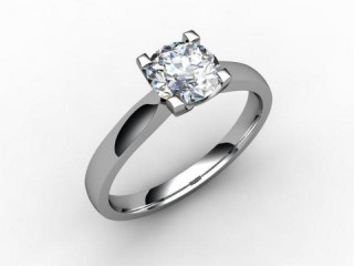Certificated Round Diamond Solitaire Engagement Ring in Palladium-01-6600-2293