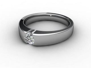 Certificated Round Diamond Solitaire Engagement Ring in Palladium-01-6600-2295