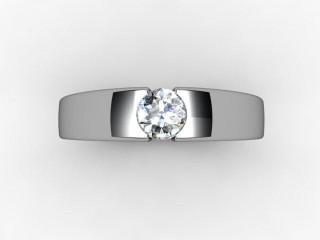 Certificated Round Diamond Solitaire Engagement Ring in Palladium - 12