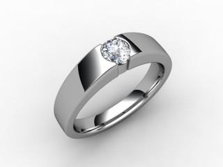 Certificated Round Diamond Solitaire Engagement Ring in Palladium - 15