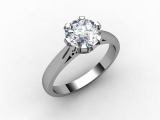 Certificated Round Diamond Solitaire Engagement Ring in Palladium-01-6600-2399