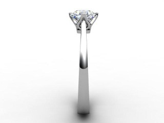 Certificated Round Diamond Solitaire Engagement Ring in Palladium - 6