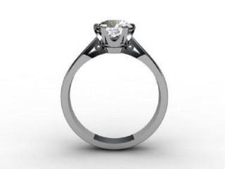 Certificated Round Diamond Solitaire Engagement Ring in Palladium - 6