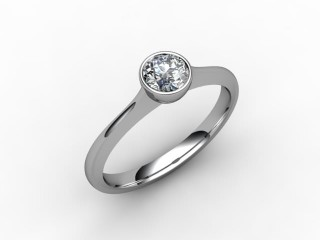 Certificated Round Diamond Solitaire Engagement Ring in Palladium - 15