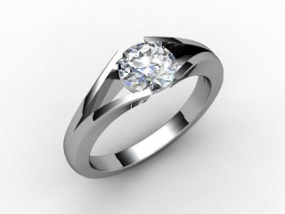 Certificated Round Diamond Solitaire Engagement Ring in Palladium