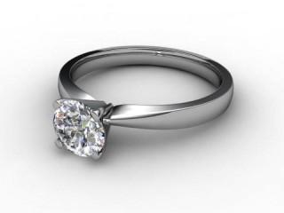 Certificated Round Diamond Solitaire Engagement Ring in Palladium