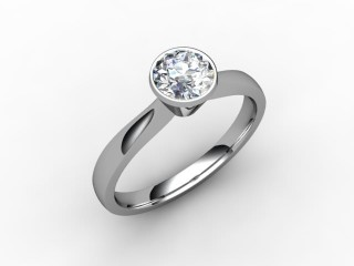 Certificated Round Diamond Solitaire Engagement Ring in Palladium - 12