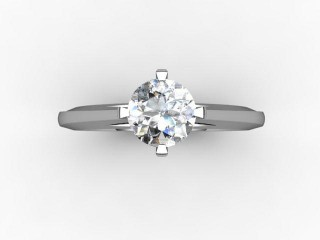 Certificated Round Diamond Solitaire Engagement Ring in Palladium - 9