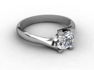 Certificated Round Diamond Solitaire Engagement Ring in Palladium - 3
