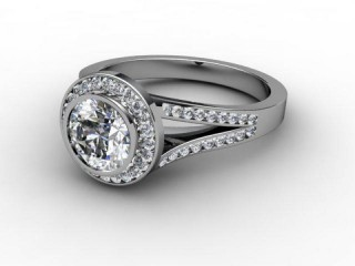Certificated Round Diamond in Palladium-01-6600-8900
