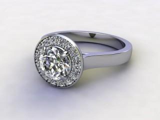 Certificated Round Diamond in Palladium-01-6600-8942