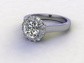 Certificated Round Diamond in Palladium-01-6600-8943