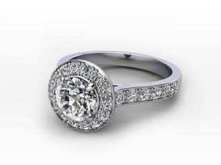 Certificated Round Diamond in Palladium-01-6600-8945