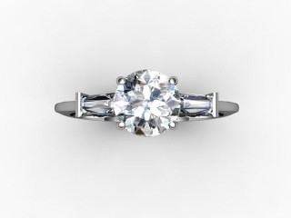 Certificated Round Diamond in Palladium - 9