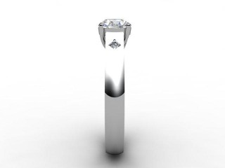 Certificated Round Diamond in Palladium - 6