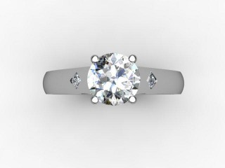 Certificated Round Diamond in Palladium - 9
