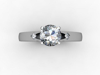 Certificated Round Diamond in Palladium - 12