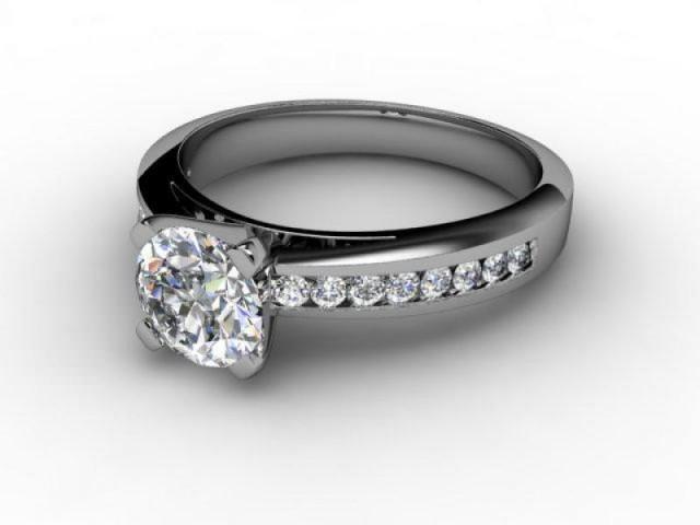 Certificated Round Diamond in Palladium