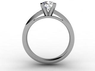 Certificated Round Diamond in Palladium - 3