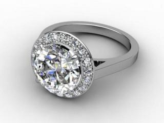 Certificated Round Diamond in Palladium-01-6619-6166
