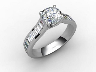 Certificated Round Diamond in Palladium
