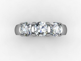 Trilogy Palladium Round Brilliant-Cut Diamond - 12