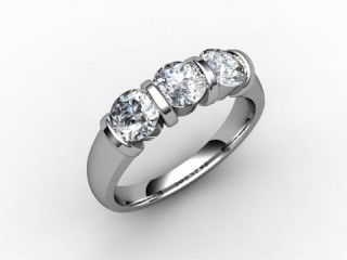 Trilogy Palladium Round Brilliant-Cut Diamond - 15