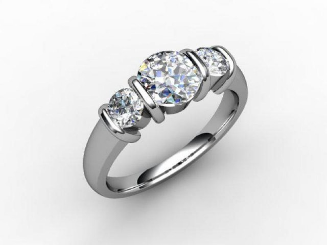 Trilogy Palladium Round Brilliant-Cut Diamond