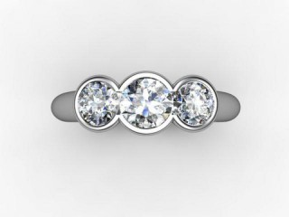 Trilogy Palladium Round Brilliant-Cut Diamond - 12