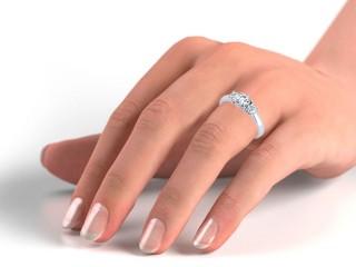Trilogy Palladium Round Brilliant-Cut Diamond - 18