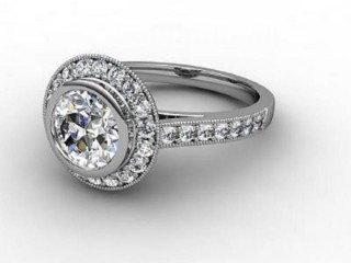 Certificated Round Diamond in Palladium-01-6636-8015