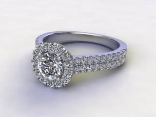 Certificated Round Diamond in Palladium-01-6654-8955