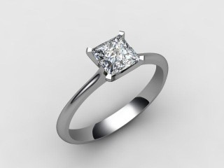Certificated Princess-Cut Diamond Solitaire Engagement Ring in Platinum - 12