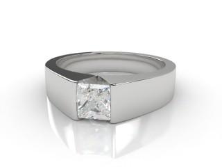 Certificated Princess-Cut Diamond Solitaire Engagement Ring in Platinum