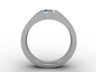 Certificated Princess-Cut Diamond Solitaire Engagement Ring in Platinum - 6