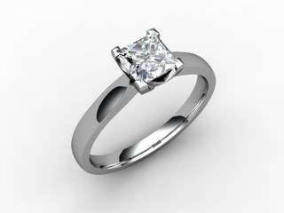 Certificated Princess-Cut Diamond Solitaire Engagement Ring in Platinum - 15