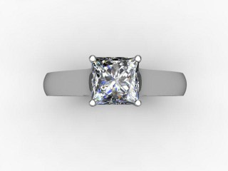 Certificated Princess-Cut Diamond Solitaire Engagement Ring in Platinum - 9