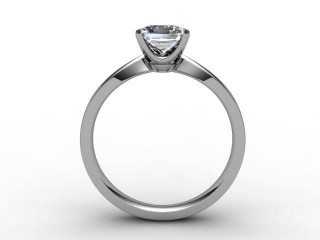Certificated Princess-Cut Diamond Solitaire Engagement Ring in Platinum - 6