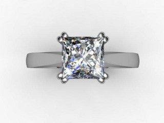 Certificated Princess-Cut Diamond Solitaire Engagement Ring in Platinum - 12