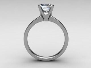 Certificated Princess-Cut Diamond Solitaire Engagement Ring in Platinum - 3