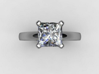 Certificated Princess-Cut Diamond Solitaire Engagement Ring in Platinum - 9