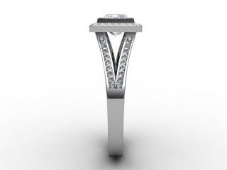 Certificated Princess-Cut Diamond in Platinum - 6