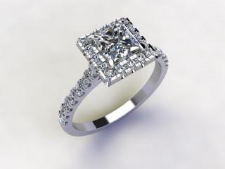 Certificated Princess-Cut Diamond in Platinum - 15