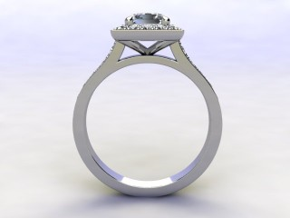 Certificated Princess-Cut Diamond in Platinum - 3